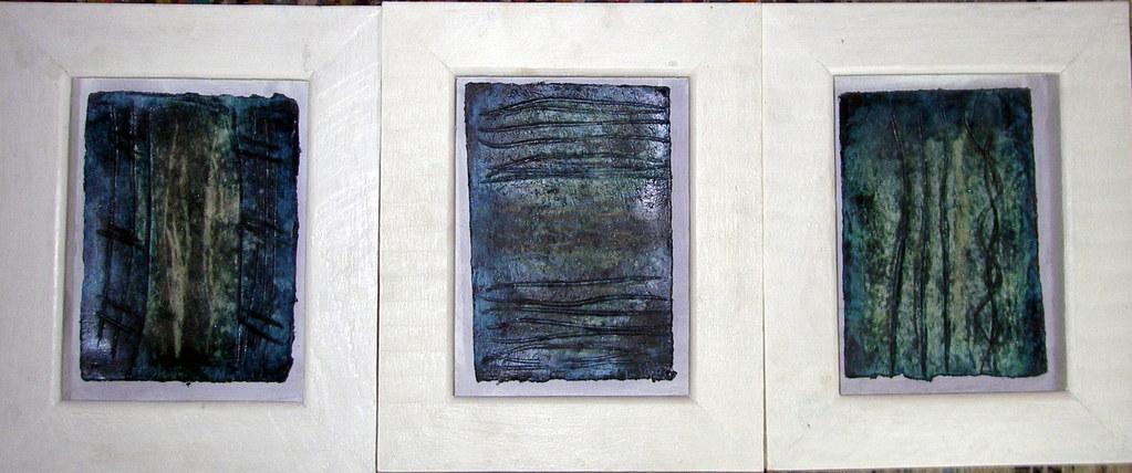 """""""Triptychon Kleines Blaues"""""""