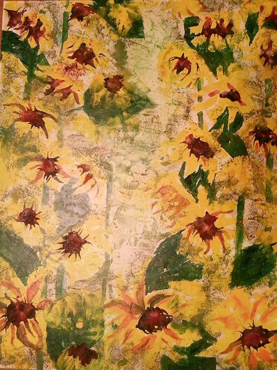 """""""Sonnenblumen im Morgenlicht"""""""