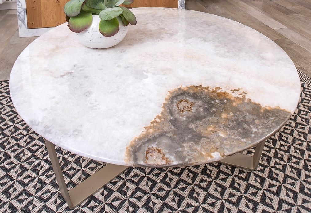 Salontafel met exclusieve White Onyx