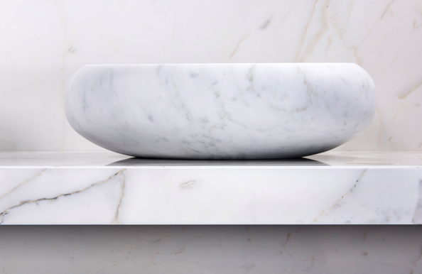 Elegant design in solid marble