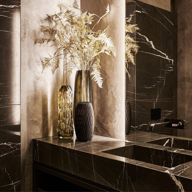 Our marble basins in a Eric Kuster setting