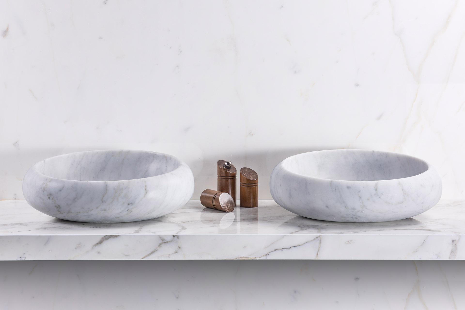 Bianco Carrara wahbowl