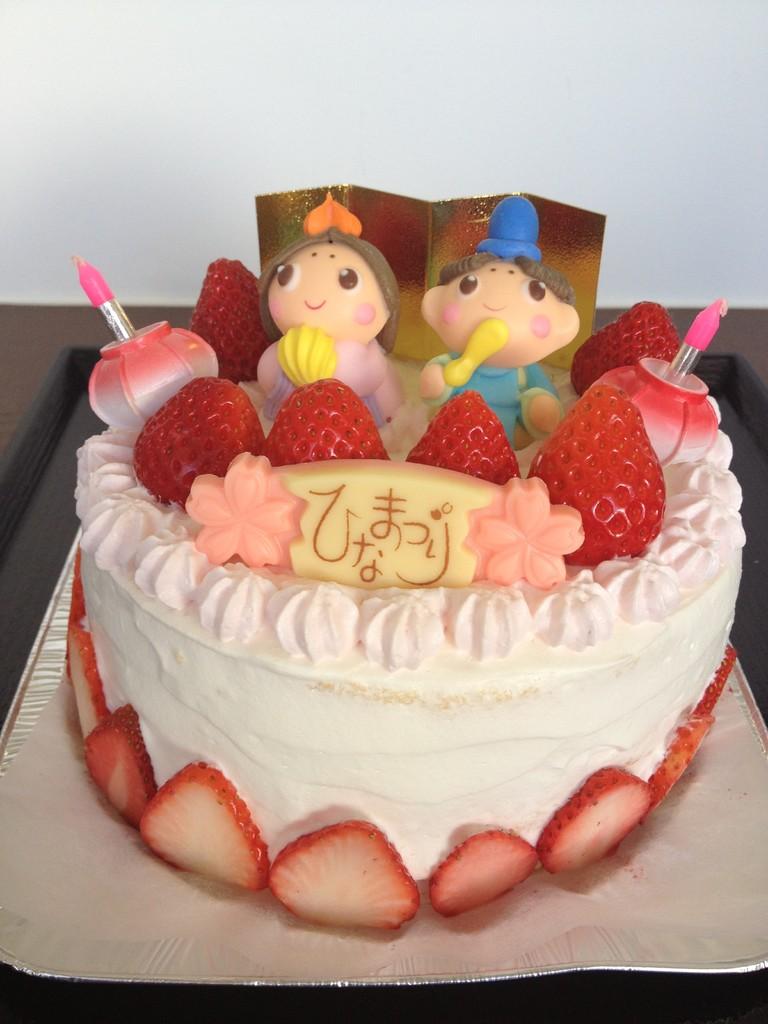 桃の節句ケーキ♪