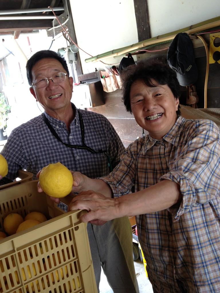 狭間農園さん宅(呉・豊島)訪問