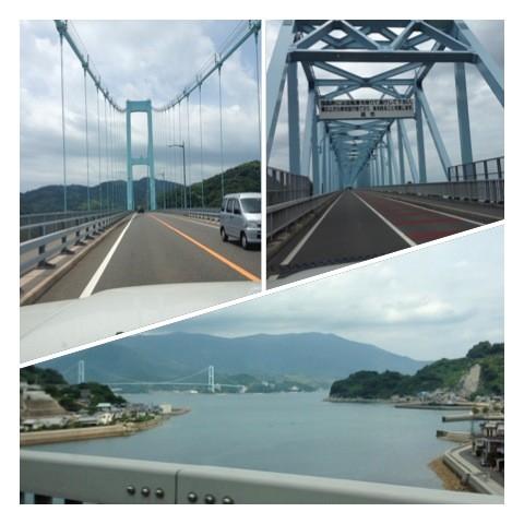 安芸灘大橋(左上)・蒲刈大橋(右上)・豊島大橋(下)