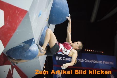 Griff- und Zugkraft wie Kletterweltmeisterin Petra Klingler