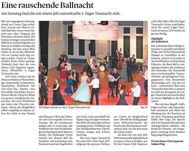 Quelle: Zuger Zeitung Ausgabe vom 25.01.2020 / S. 29
