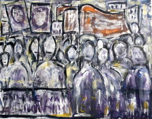 Die Befreiung 1968 (1), Öl auf Leinwand, 100 x 80 cm