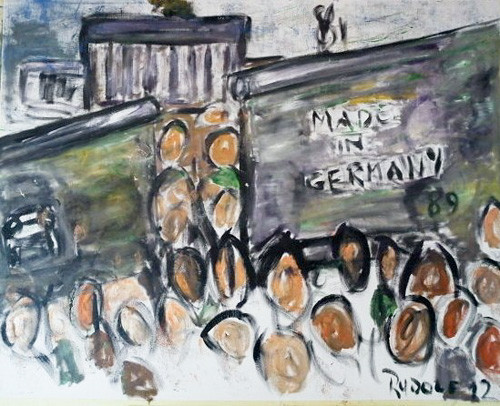 Die Befreiung 1968 (2), Öl auf Leinwand, 100 x 80 cm