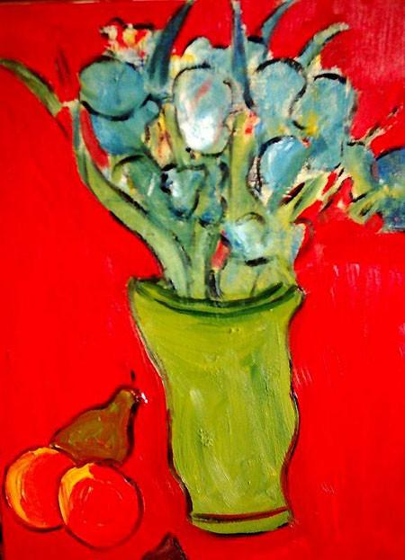 Grüne Vase
