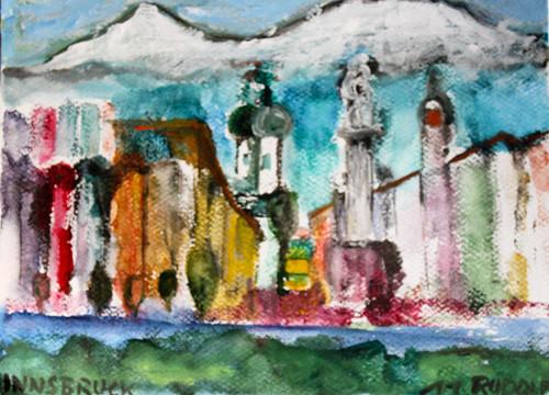 Innsbruck 1, 30 x 20, Aquarell