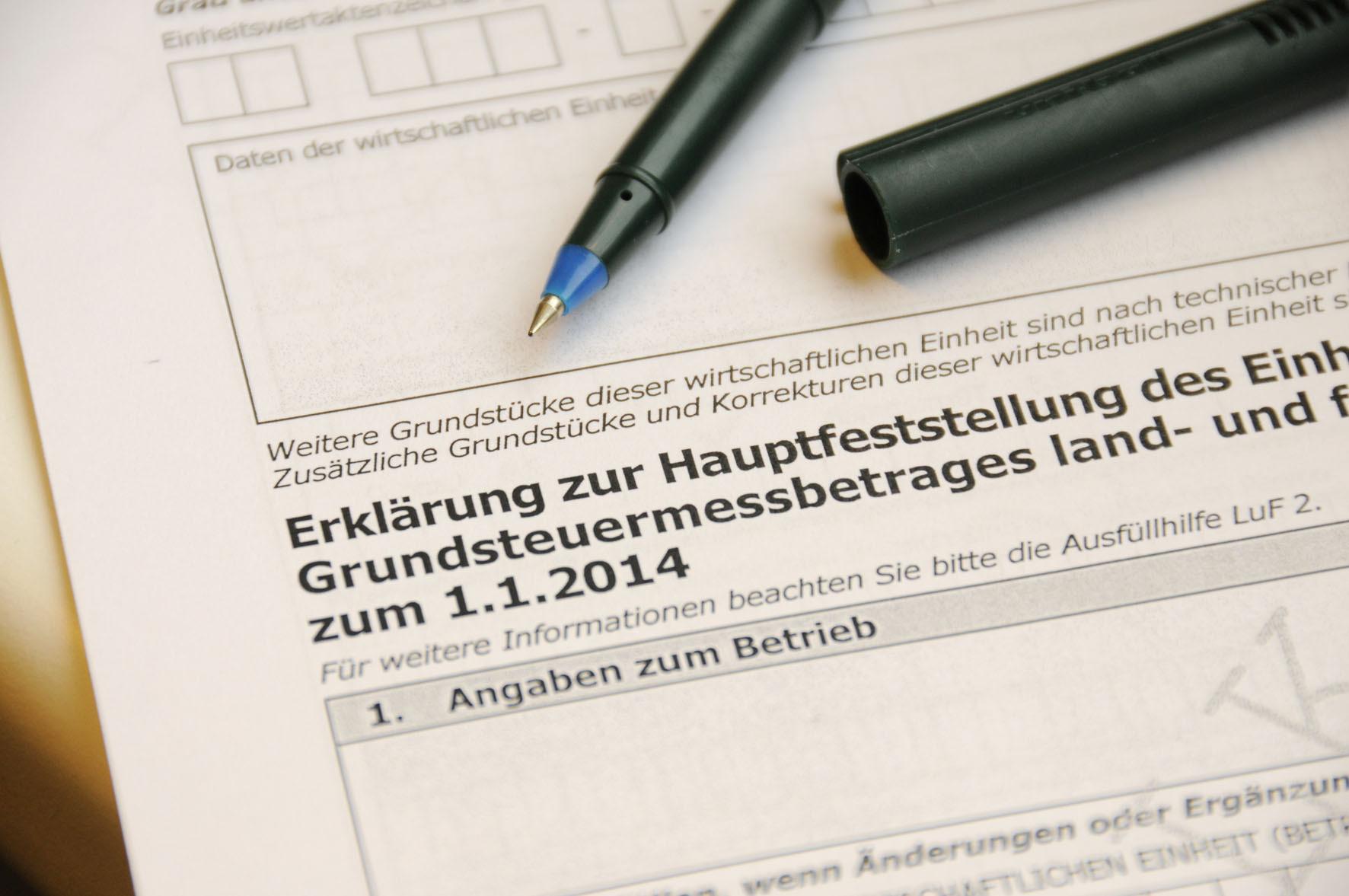 Relativ Neue Einheitswertsbewertung / Hauptfeststellung zum 1.1.2014 OW24