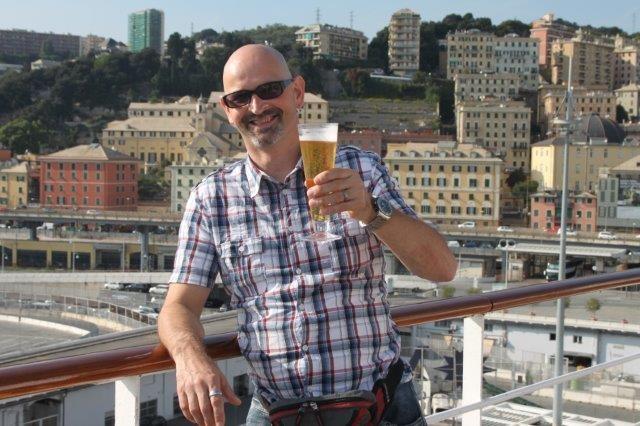 Marcel mit Bier