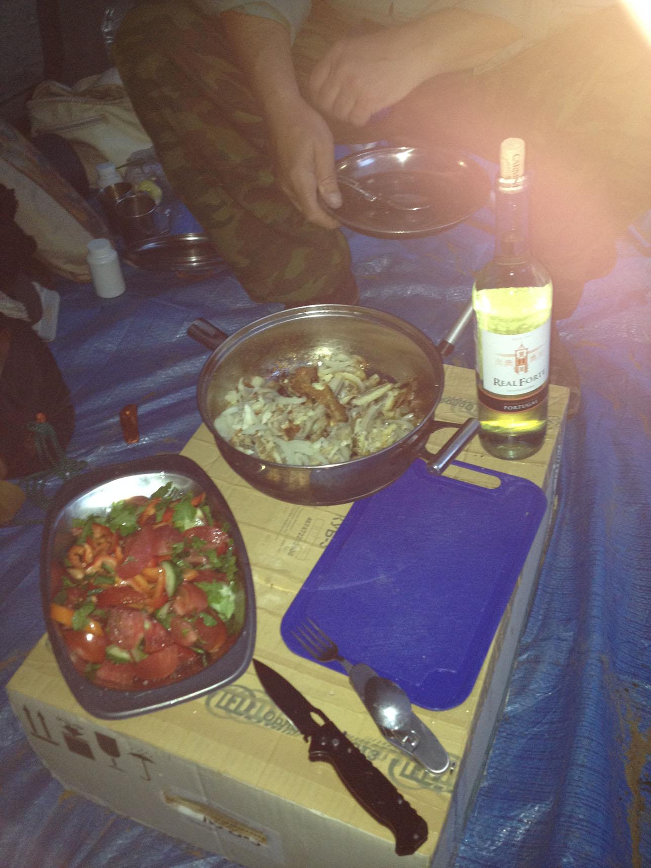 Ужин, приготовленный Борисом.