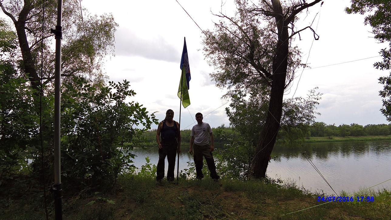 Команда экспедиции: слева RA4ALZ Борис, справа UA4AVN Олег.