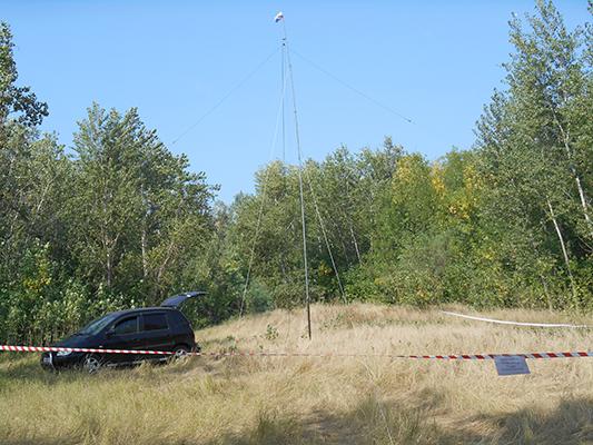 Выездной комплект: телескоп 9 метров, спаренный in.vee на 40 и 20 метров