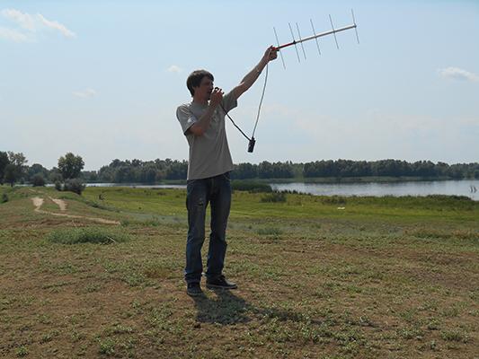 Андрей не скучает, проводит радиосвязи на 70 см