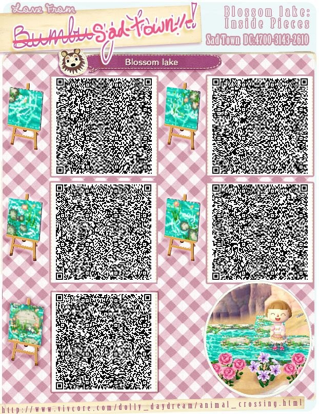 Wasserdesigns animal crossing new leaf for Floor qr codes new leaf