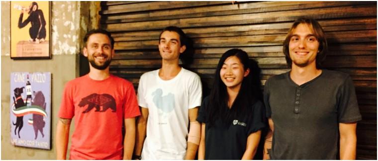 Markus, Eamonn, Vivian, Theo (February 2016)