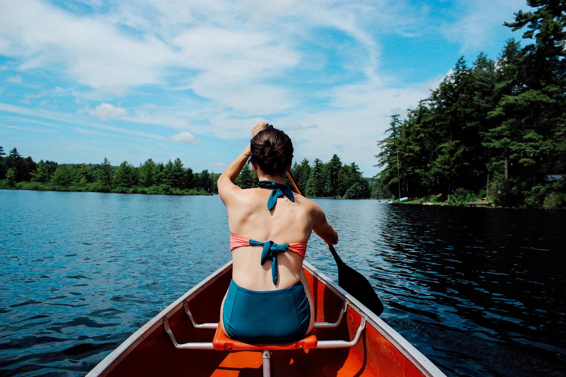 Kanu fahren auf der Trave