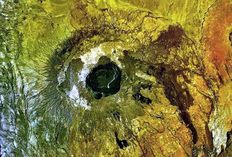 Immagine satellitare del Monte Suswa