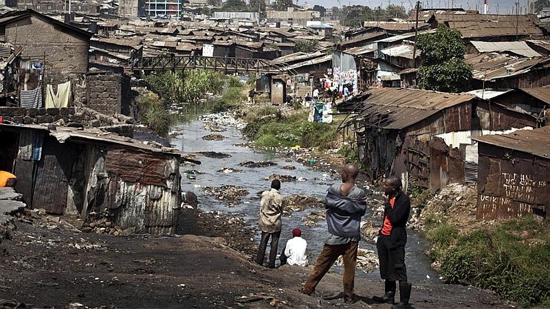 Kenya. Mathare slum in Nairobi