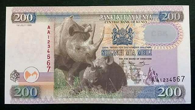 Nuova banconota da 200 KShs