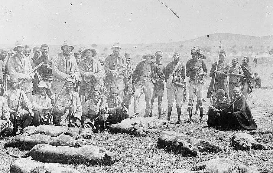 La festa di caccia di Paul Rainey - Leoni uccisi in 15 minuti