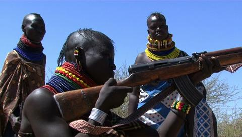 Turkana women and their guns in Kenya.