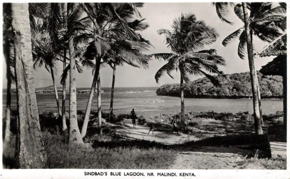 Laguna Blu di Sindbad, vicino Malindi 1950 (vintage photo)