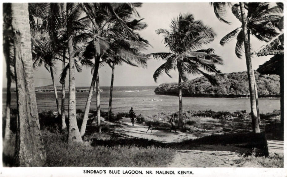 Laguna Blu - Watamu -1950 (vintage photo)
