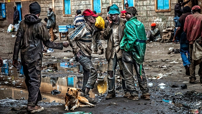 Kenya. The streets of Nairobi