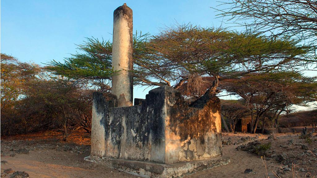 Rovine di Takwa, Moschea del venerdì. Isola di Manda, Kenya.