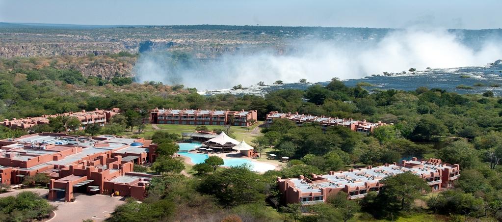 Complesso turistico Zambesi Sun a Livingston (Zambia) di fronte alle cascate Vittoria