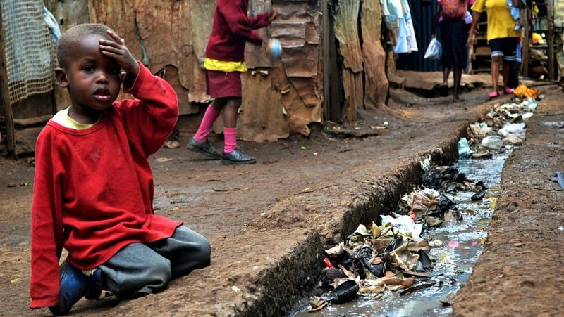 Kenya. Kibera slum in Nairobi