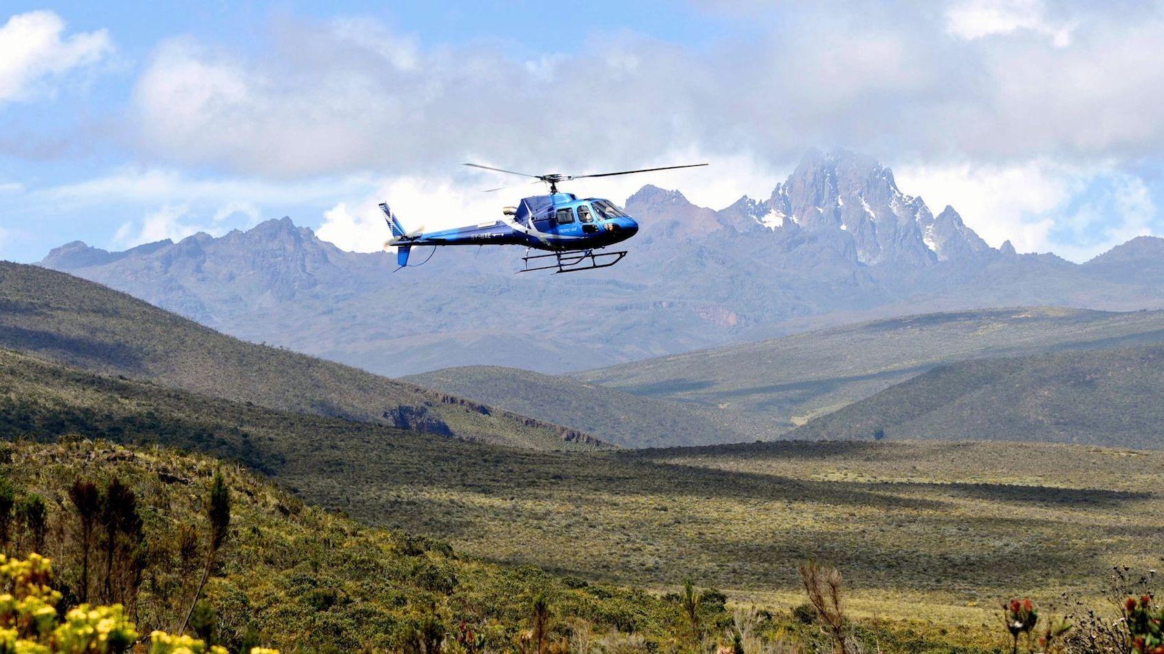 Monte Kenya. Vista dall'altopiano Laikipia