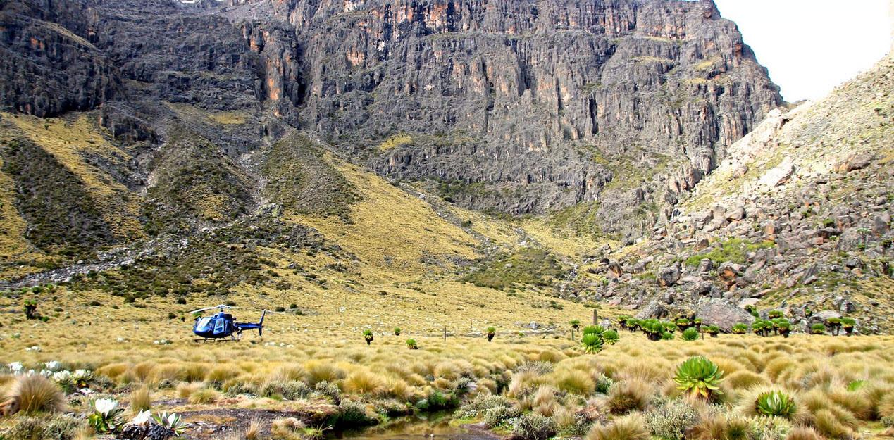 Alle falde del Monte Kenya