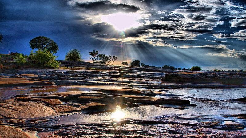Kenya. Cascate Lugard