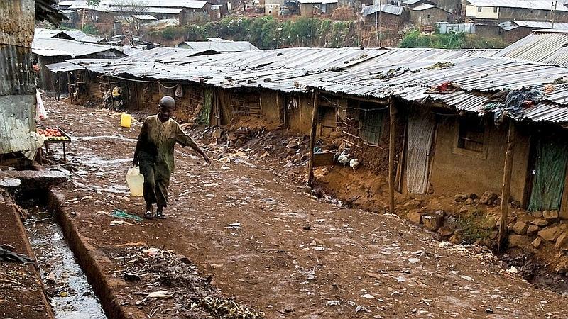 Kenya. Kibera Slum di Nairobi