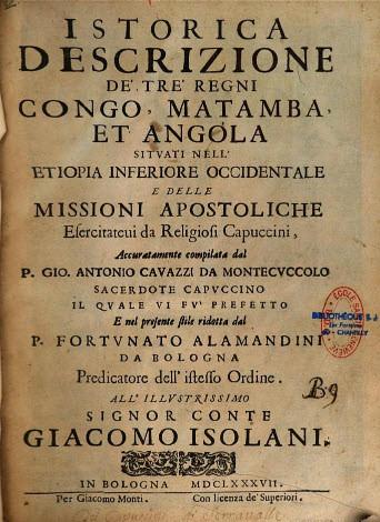 Istorica Descrizione de' tre regni Congo, Matamba ed Angola
