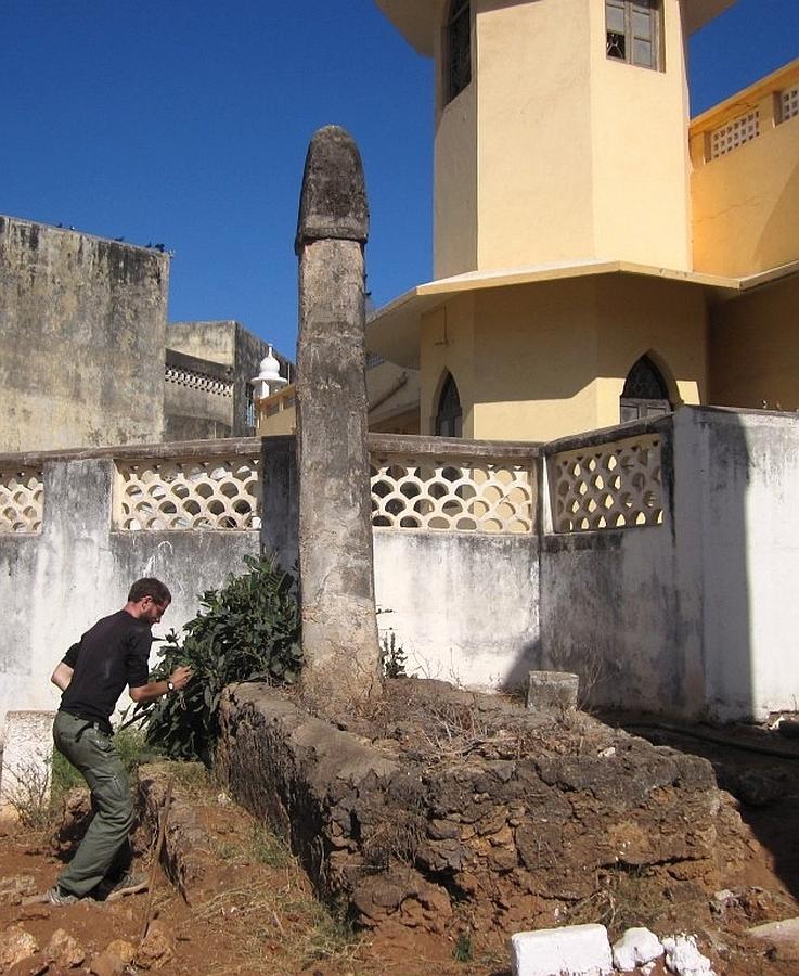 Small Pillar Tomb Jumaa Mosque Malindi, Kenya