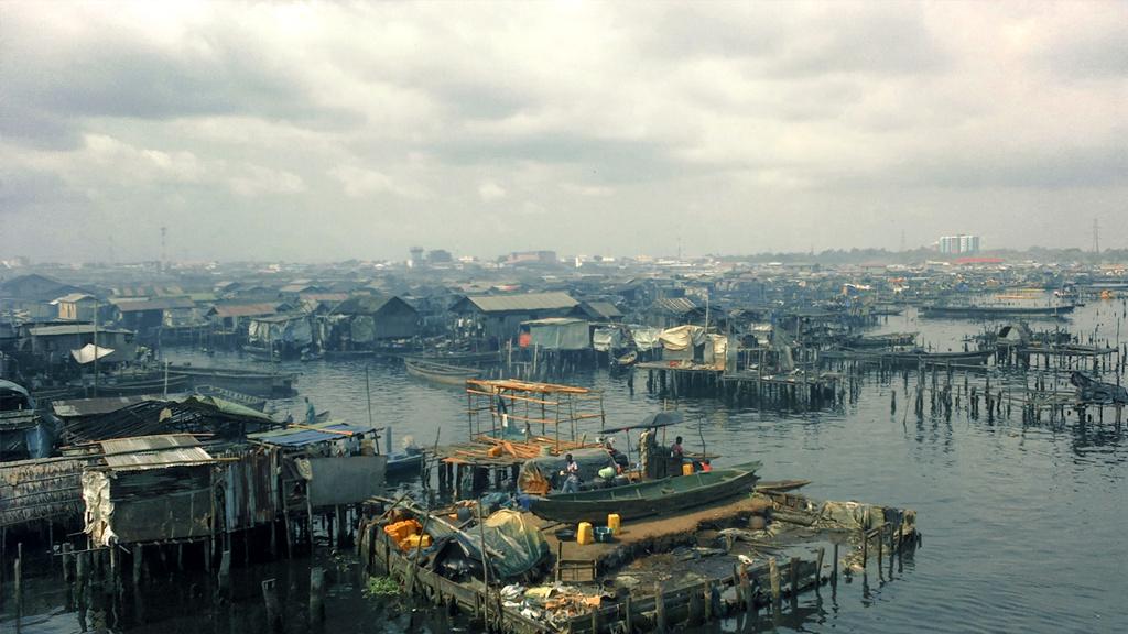 Slum di Makoko a Lagos in Nigeria
