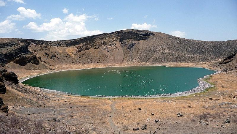 Kenya. Flamingo Lake - Central Island Lake Turkana