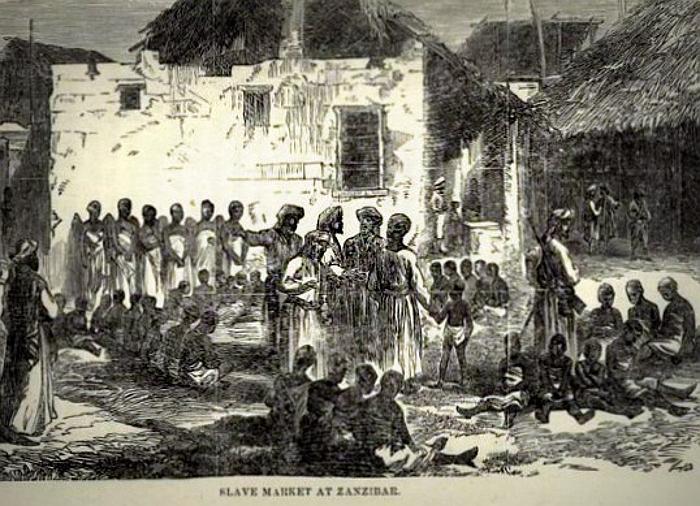Mercato degli schiavi a Zanzibar