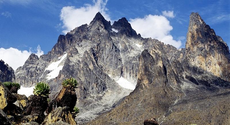 Kenya. Vista del Monte Kenya