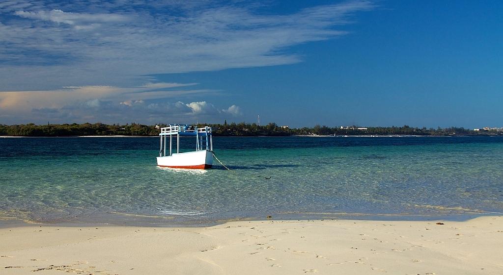 Imbarcazione nel Parco Marino  di Mombasa