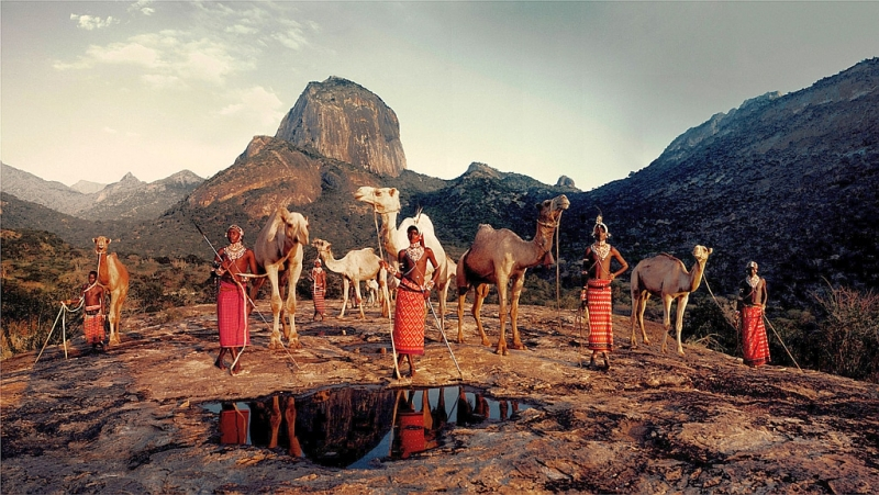 Kenya. Tribù Samburu ai piedi del Monte Kenya