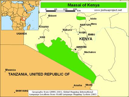 Maasai in Kenya Mappa