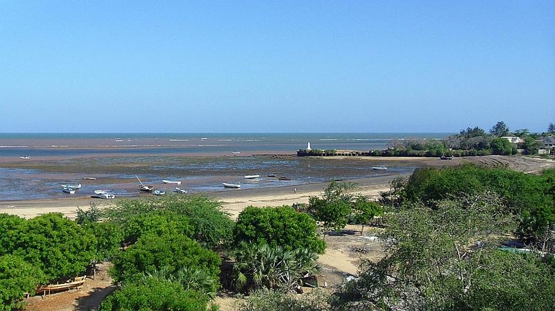 Kenya. Porto di Malindi e sullo sfondo il Pillar di Vasco da Gama