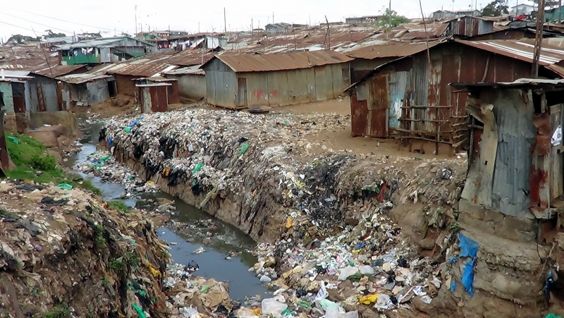 Kenya. Korogocho slum in Nairobi